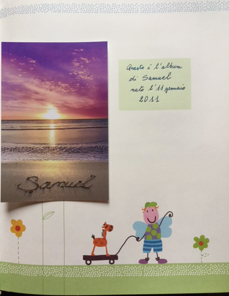 Samuel's Baby Book - First Page - Honouring the Memory of your deceased Baby